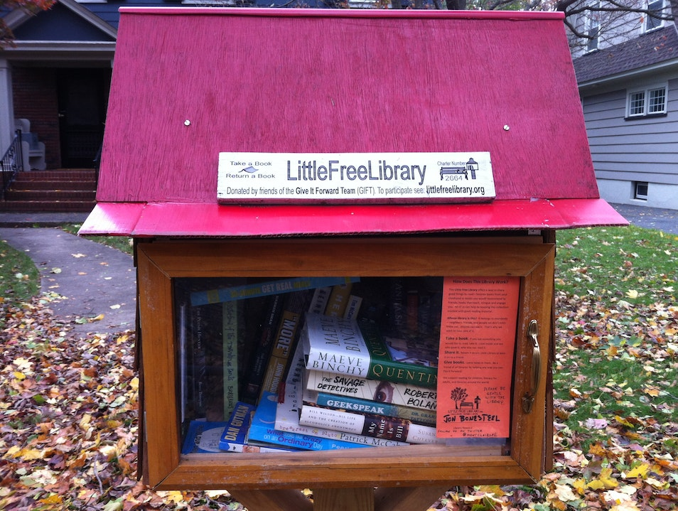 Neighborhood Library Promotes Literary Sharing Montclair New Jersey United States