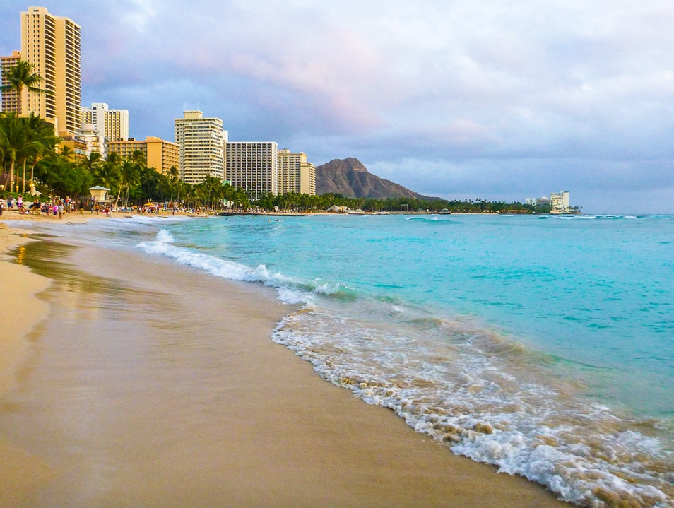A Day on Historic Waikiki Beach Honolulu Hawaii United States