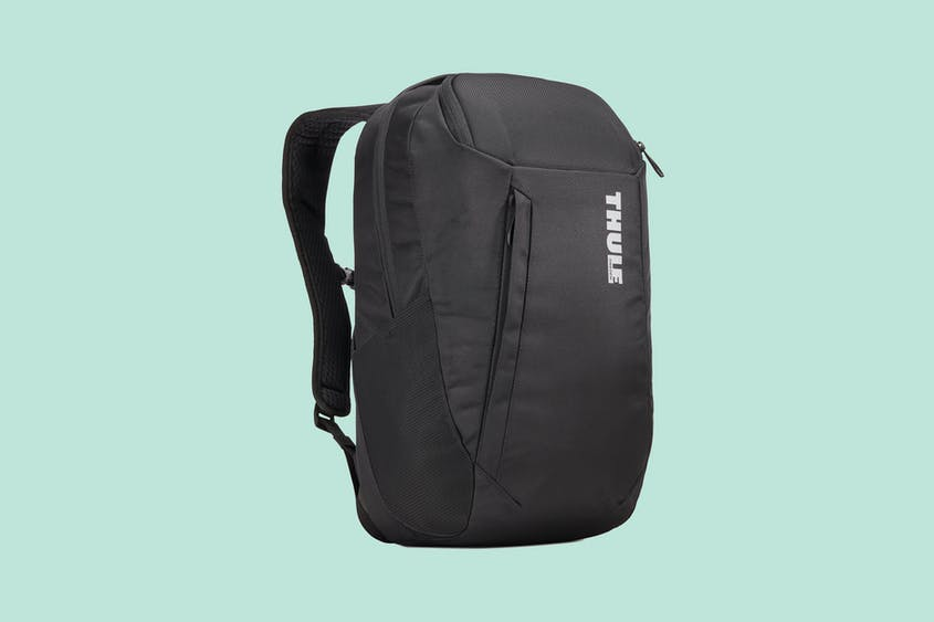 A laptop isn't the only travel item that this backpack protects.