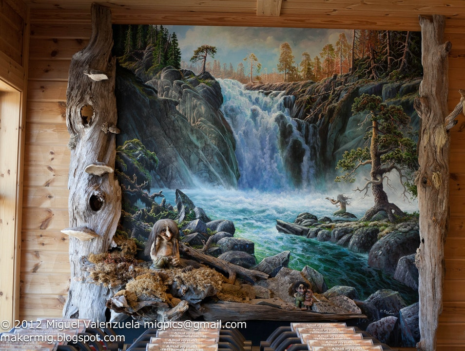 Hidden Troll Art within Veggli Supermarket Rollag  Norway