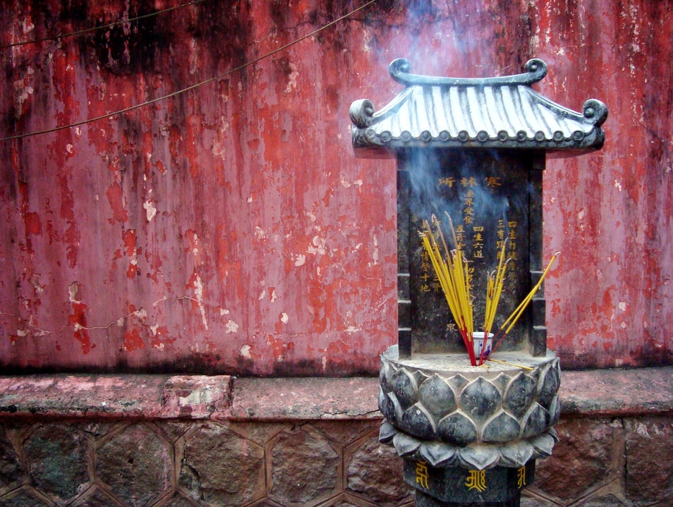 Incense offerings Ho Chi Minh City  Vietnam