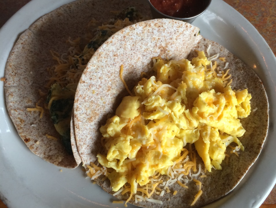 Breakfast Veggie Tacos at Bouldin Creek Cafe Austin Texas United States