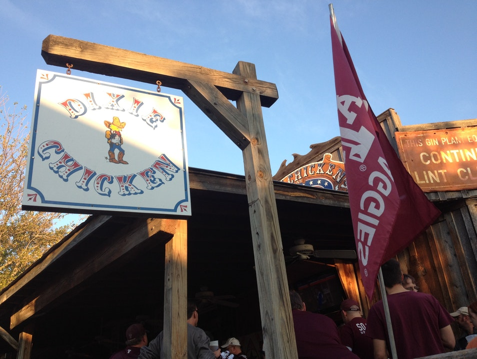 Tradition Found at the Dixie Chicken College Station Texas United States