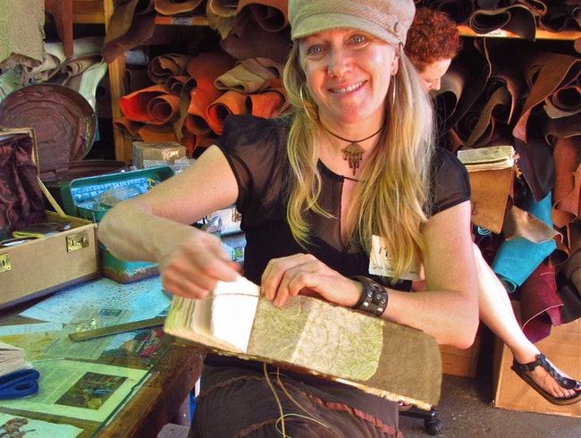 One of a Kind: Handmade Leather Books