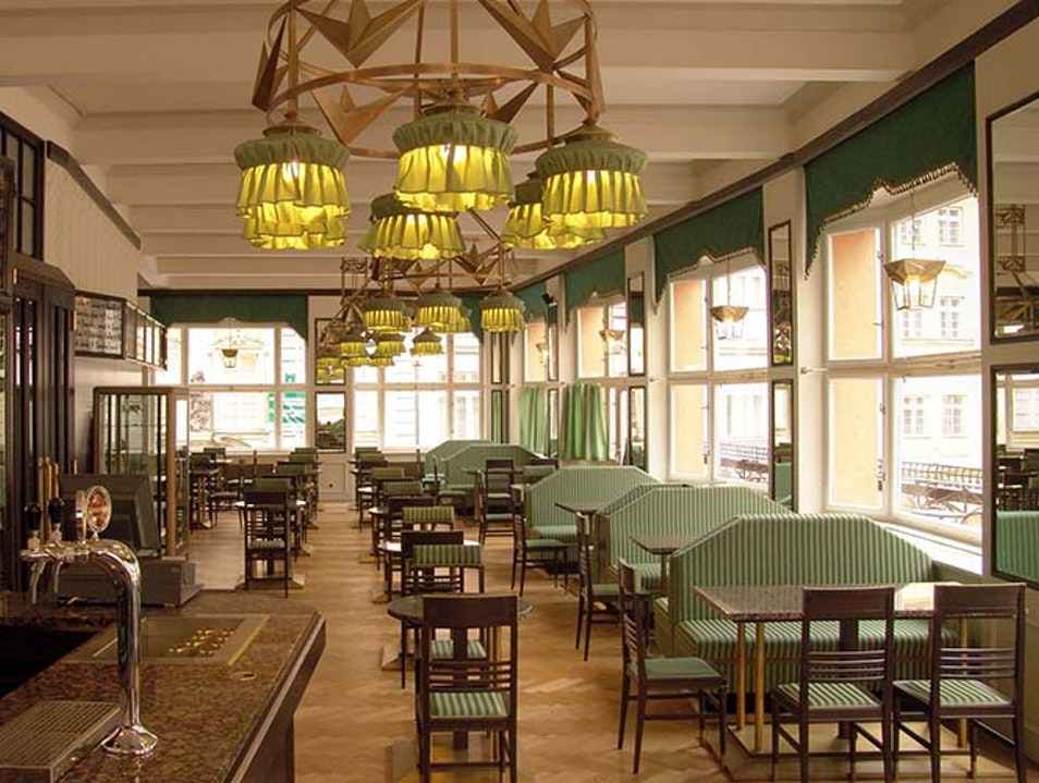 Modernist Café Culture in Prague Praha  Czechia