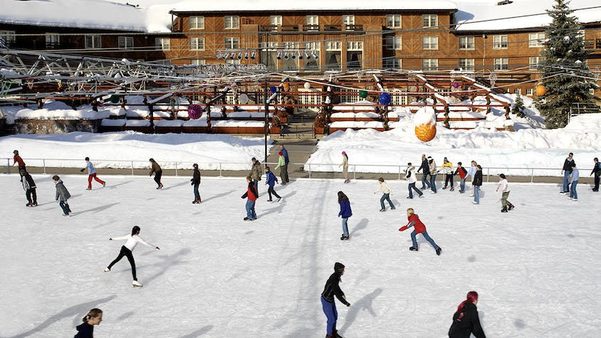 Hit the Sun Valley Outdoor Ice Rink for skating, performances, and more.