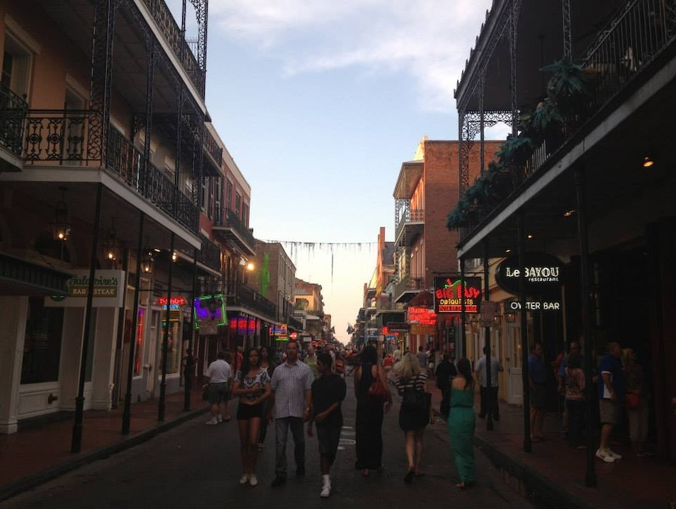 Wandering Bourbon Street New Orleans Louisiana United States