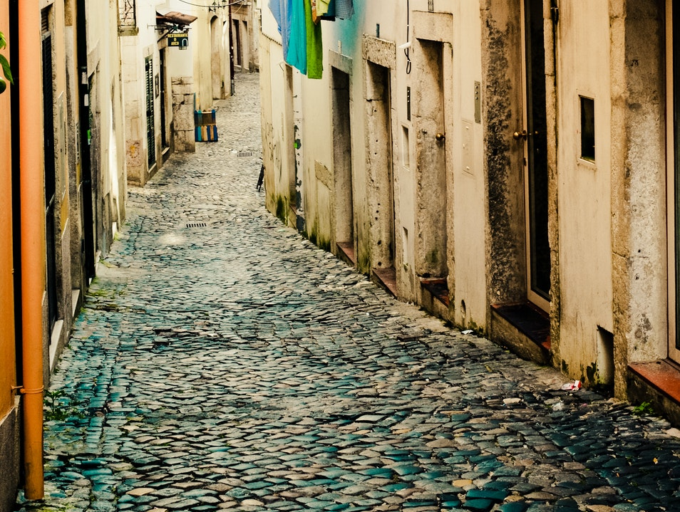Streets of Alfama Lisbon  Portugal