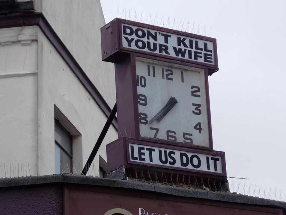 One of the oddest signs... London  United Kingdom
