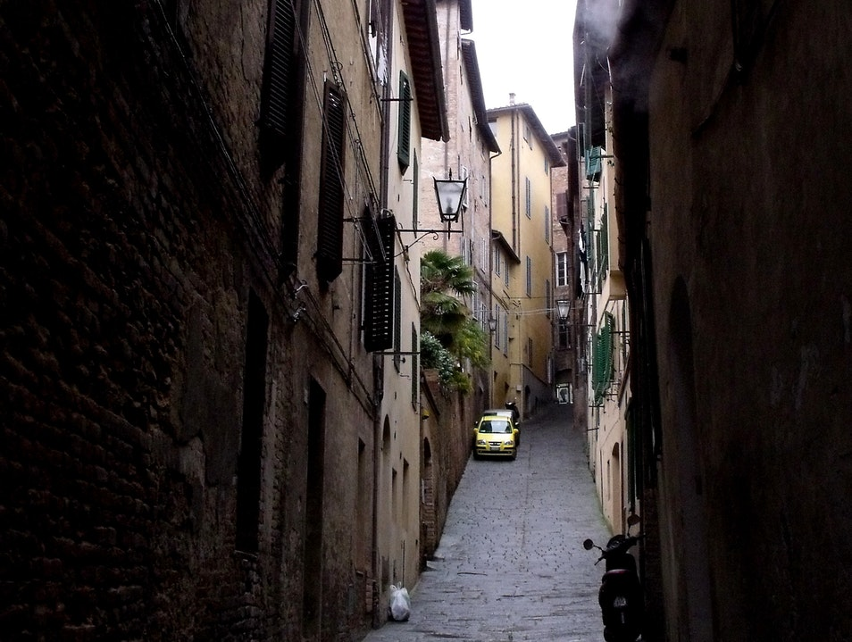 Slim streets of Siena