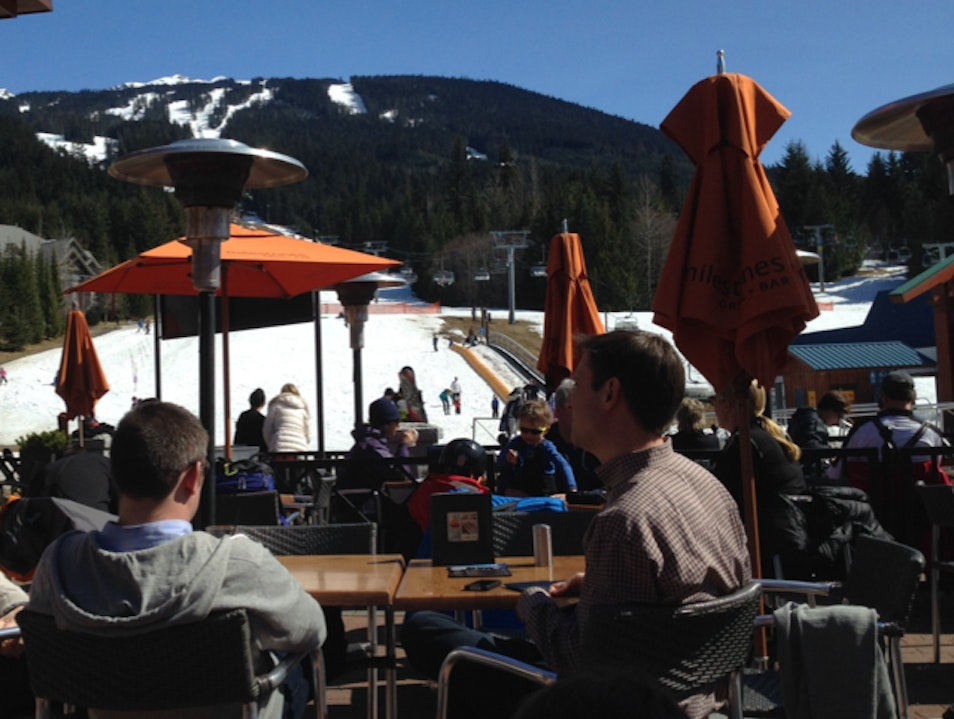 Perfect Patio after a day on the slopes Whistler  Canada