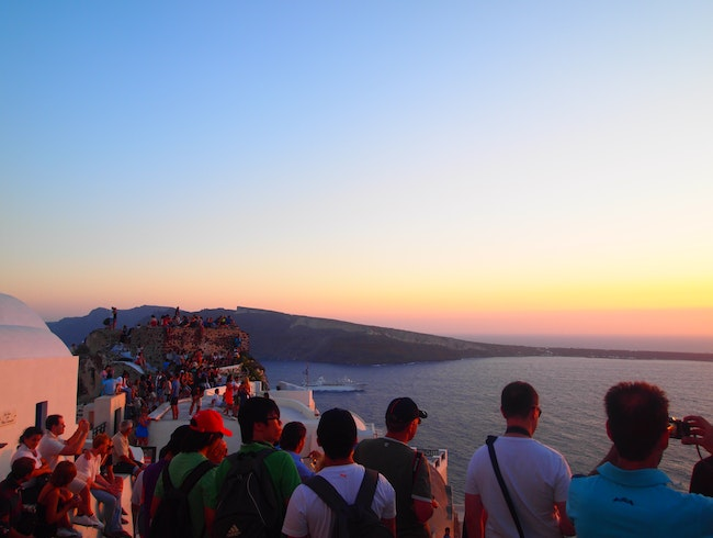 Be mesmerized by spectacular sunsets in Santorini