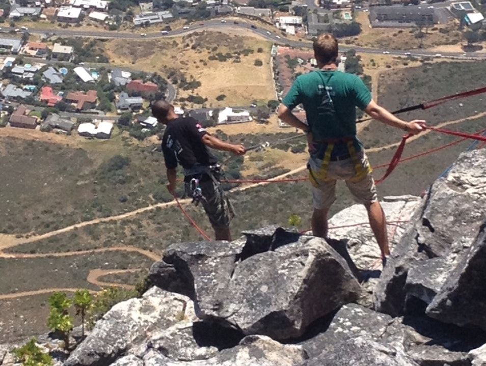 Rappel Table Mountain ! Cape Town  South Africa