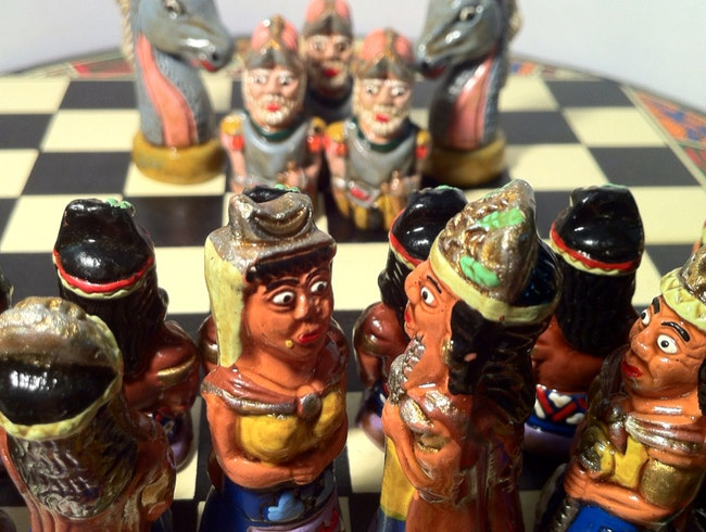 Unlikely art: History in a chess set
