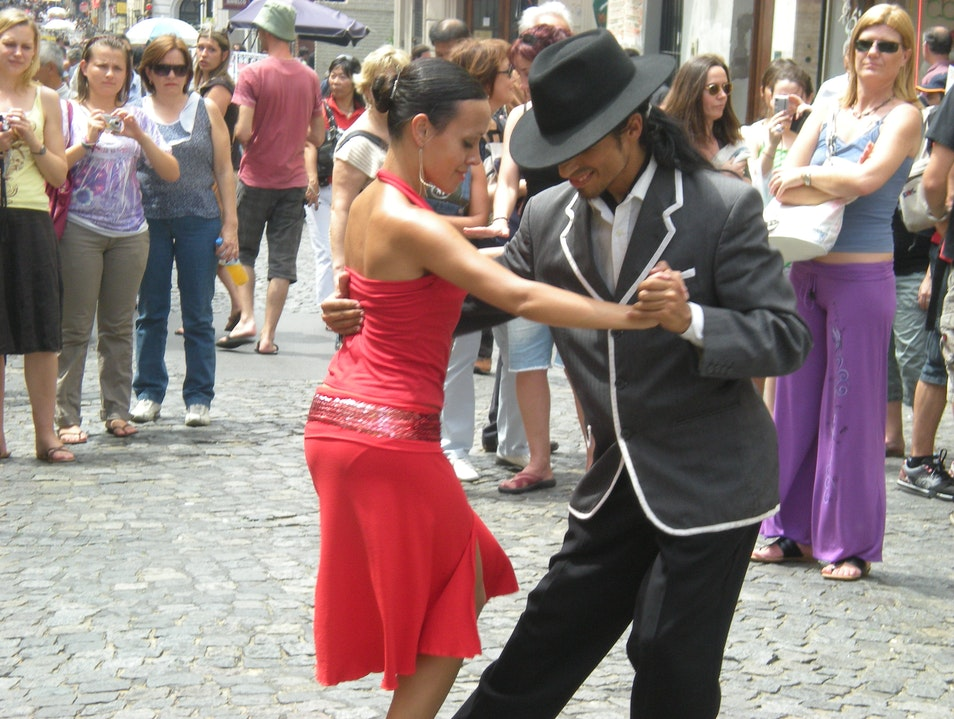 Tango in the streets  Buenos Aires  Argentina