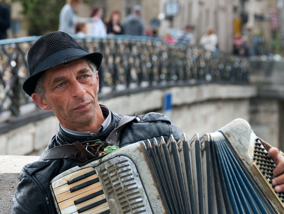 Accordion Player   France