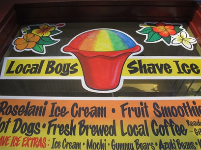 Local Boys Shave Ice West Maui Lahaina Hawaii United States
