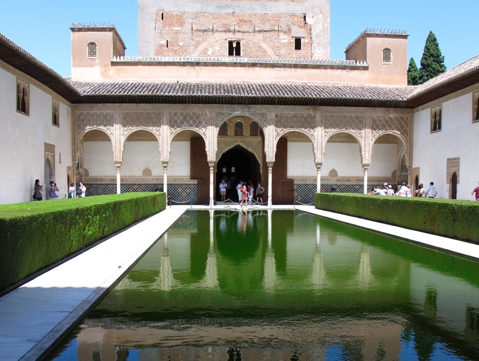 Alhambra's Court of the Myrtles Granada  Spain