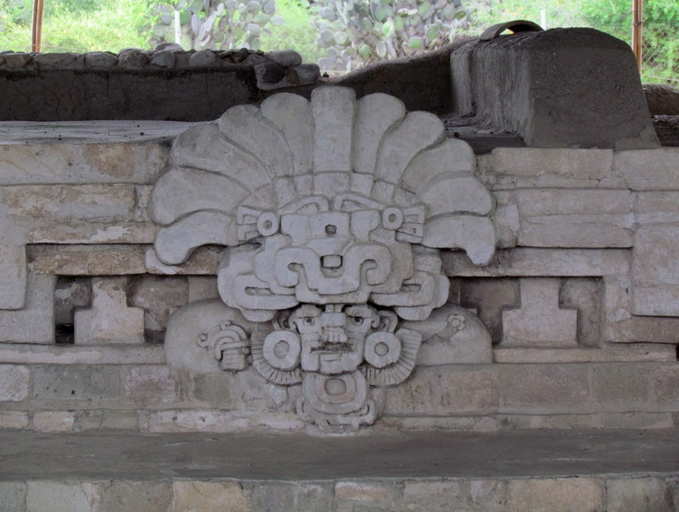 Ancient Stucco Work Tlacolula de Matamoros  Mexico