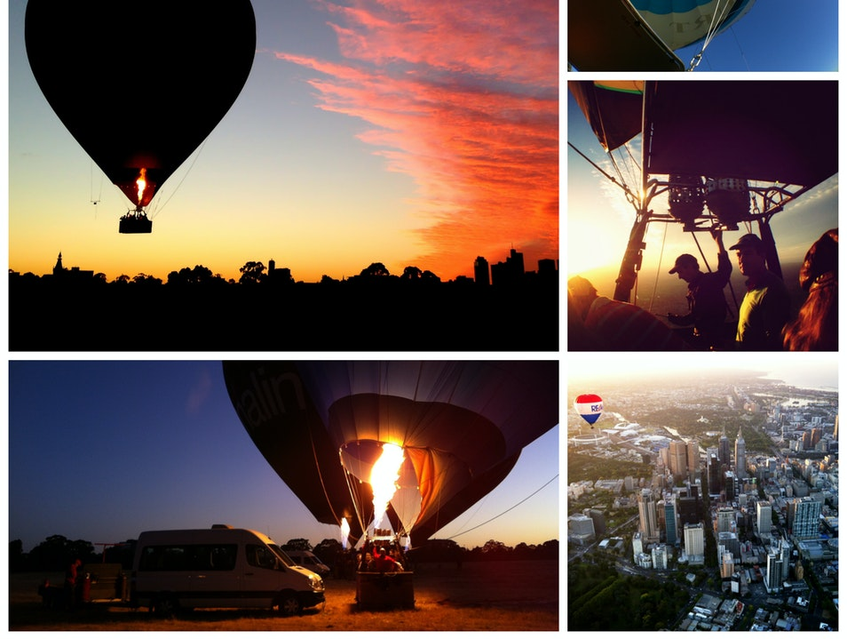 Ride in a Hot Air Balloon over Melbourne Richmond  Australia