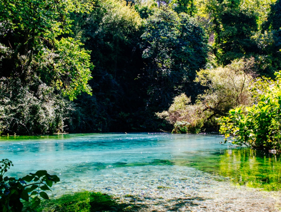 The Secluded Blue Eye Spring Sarandë District  Albania