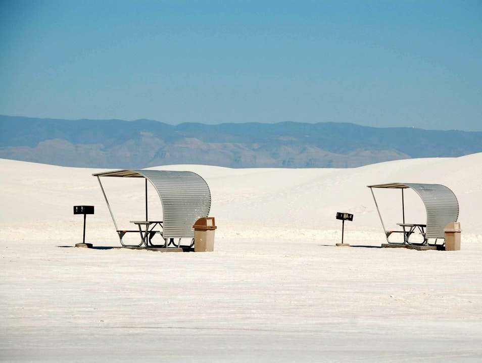 picnic in the snow Tularosa New Mexico United States