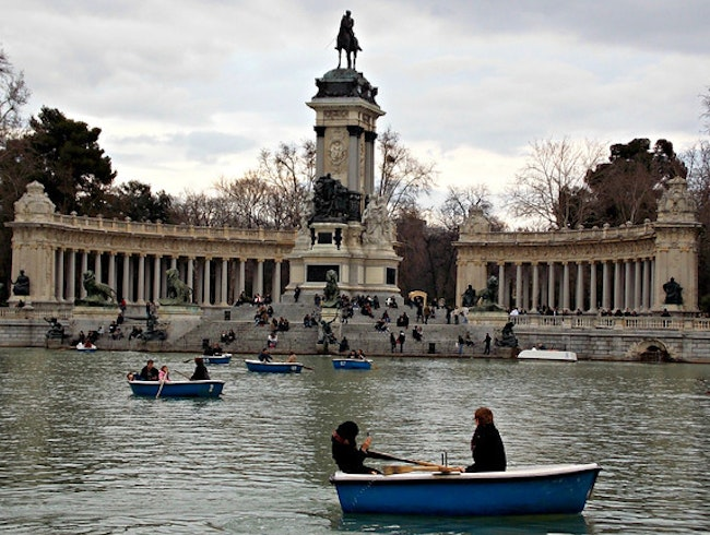 Rowing in Madrid