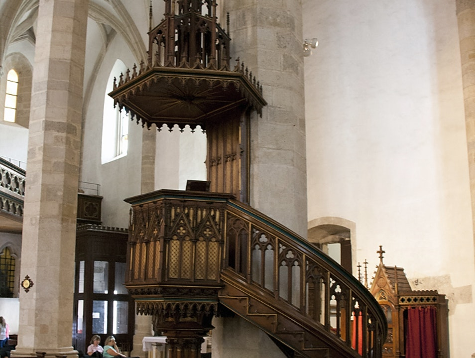 The pulpit at St. Martin's Cathedral