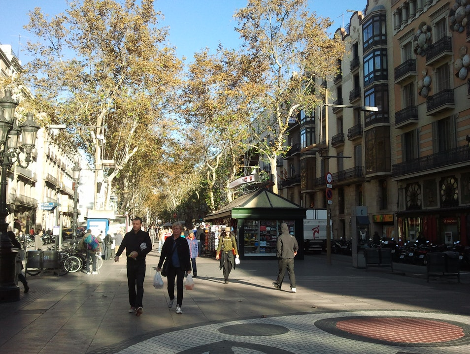 Rambla - The place to ramble! Barcelona  Spain