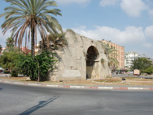 Walk through the ancient gate through which Cleopatra and Mark Antony were introduced
