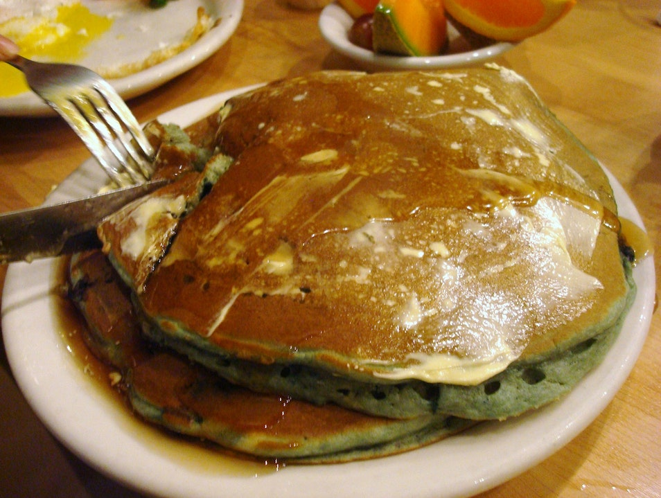 Pancakes and Skillets at All American Diner
