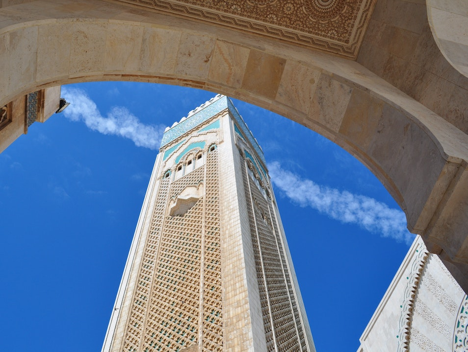Hassan V Mosque Rising to the Blue, Blue Sky