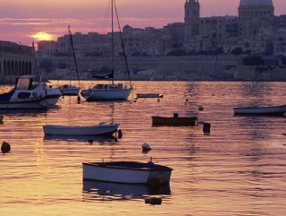 The Capital at sunset Il-Belt Valletta  Malta