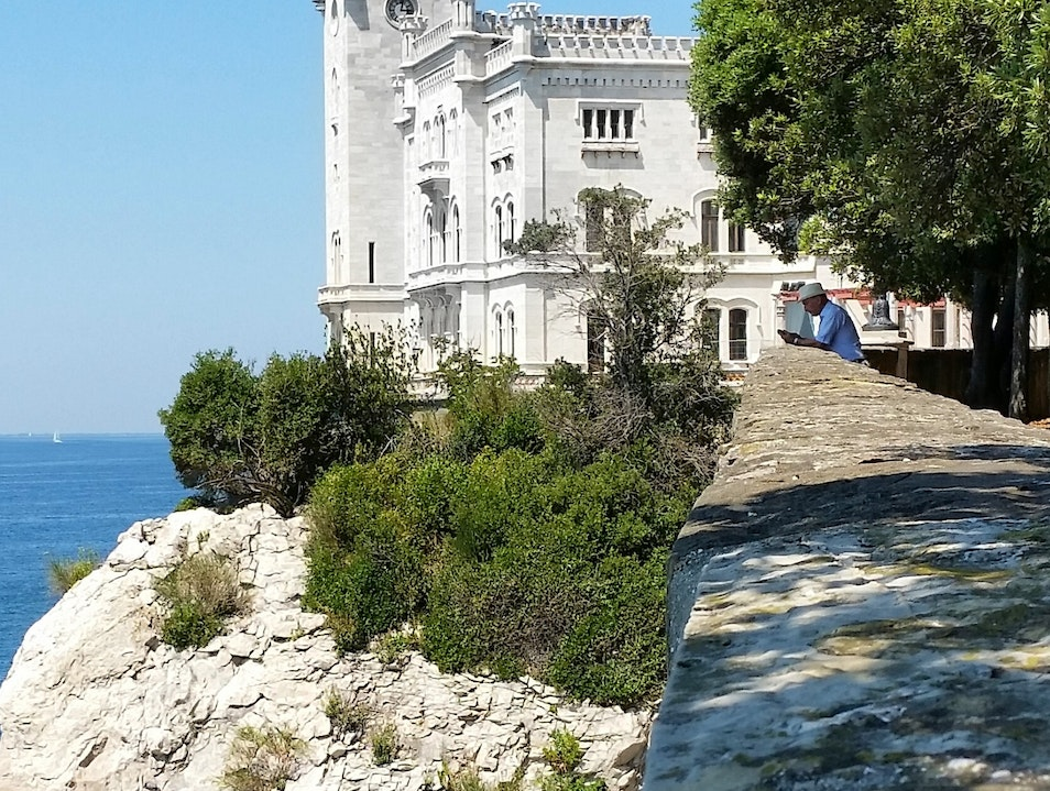 Seaside Castle in Trieste Grignano  Italy