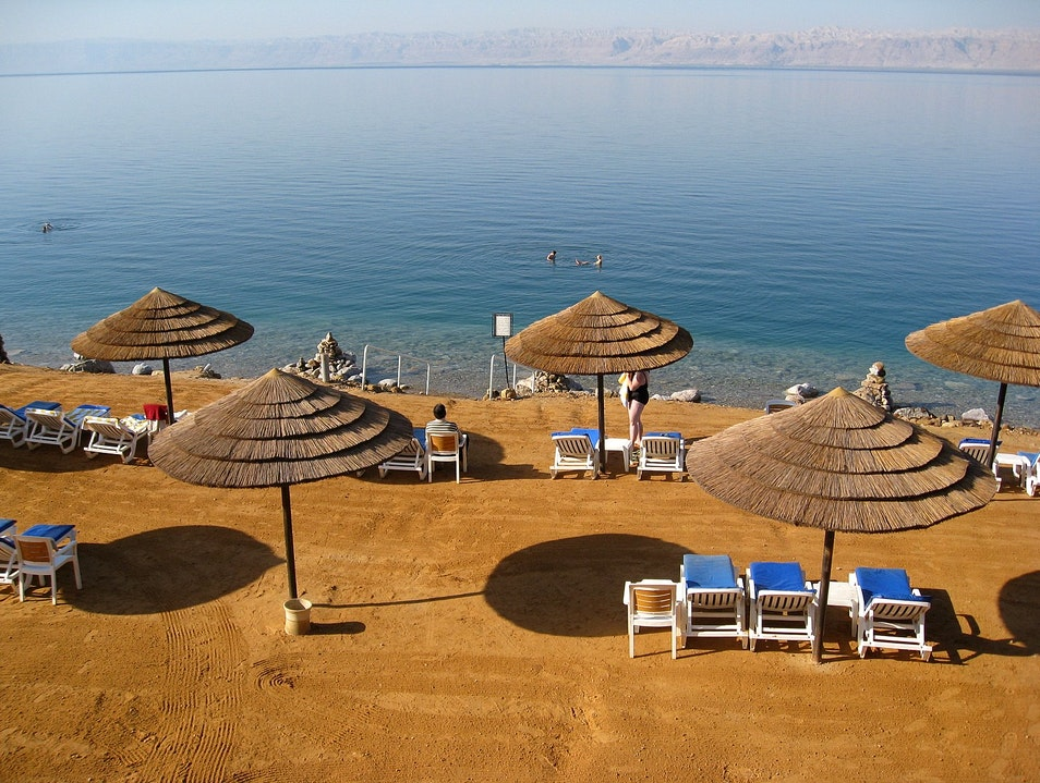 Staying afloat is easy in the Dead Sea! Sweimeh  Jordan