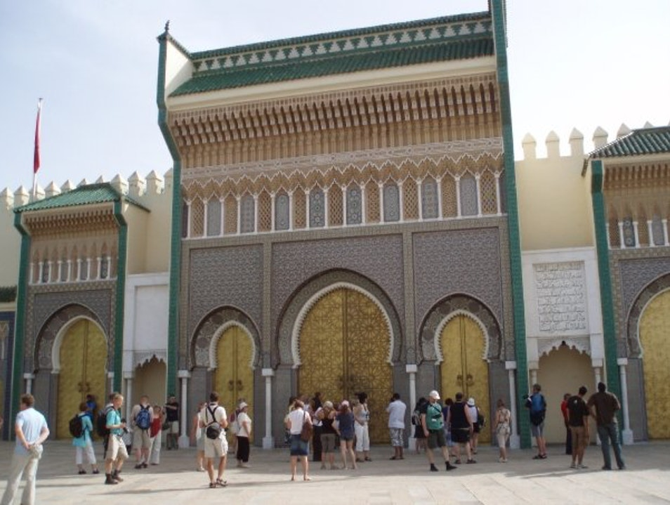 The Mighty Golden Gates in the Ancient Imperial City of Fes Fes  Morocco