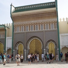 Golden Gates of the Royal Palace in Fes