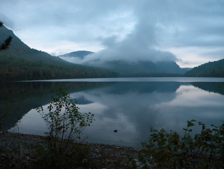 Early morning looking over South Branch Pond