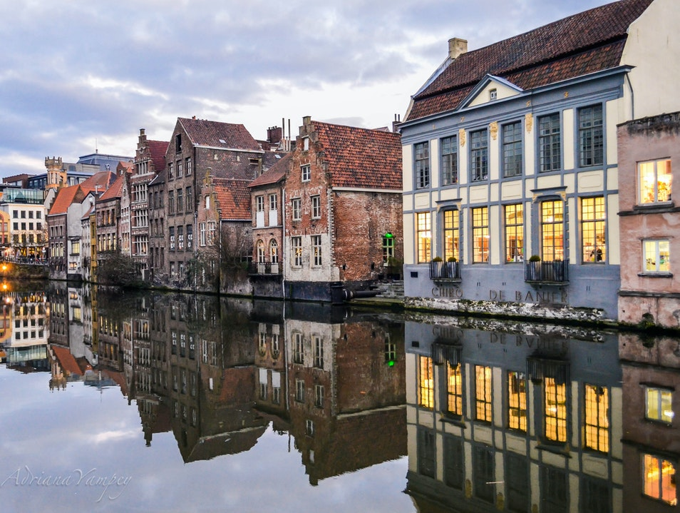 The beauty of Gent  Ghent  Belgium