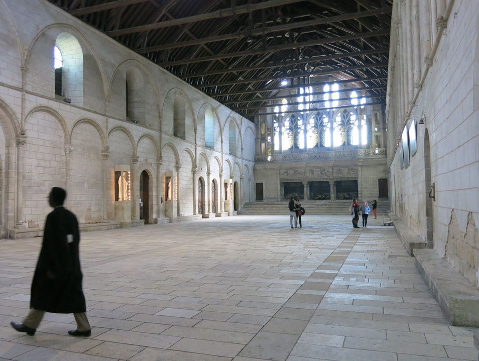 Queen Eleanor of Aquitaine's Hall of the Lost Footsteps Poitiers  France