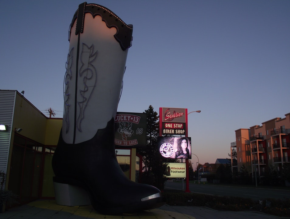 World's Largest Boot Edmonton  Canada