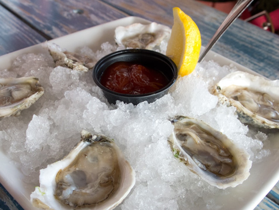 Oysters on the half shell at The Shanty Cape Charles Virginia United States