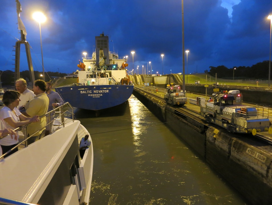 Transiting the Locks of the Panama Canal Colon  Panama