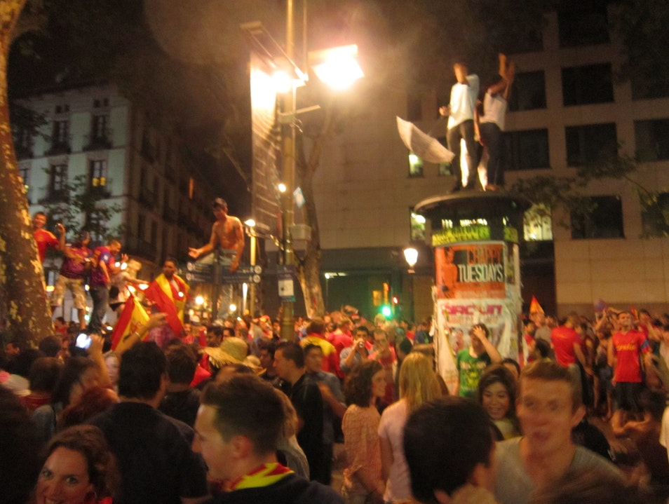After winning the 2012 Euro Cup Barcelona  Spain