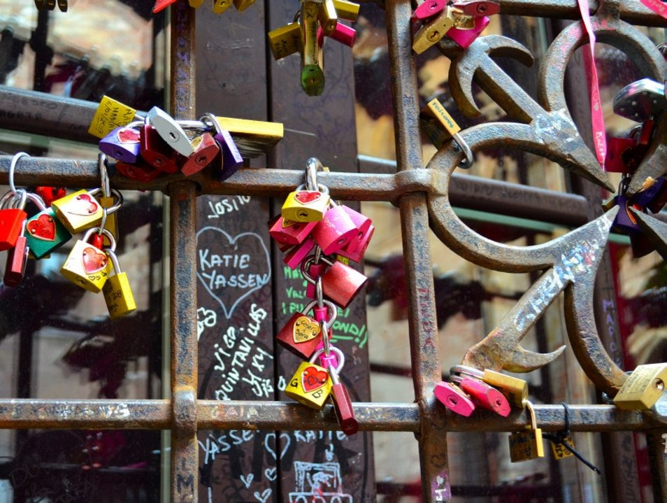 Leave some locked love Verona  Italy