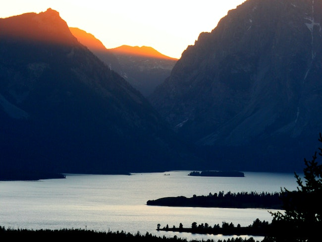 A Teton-ic sunset
