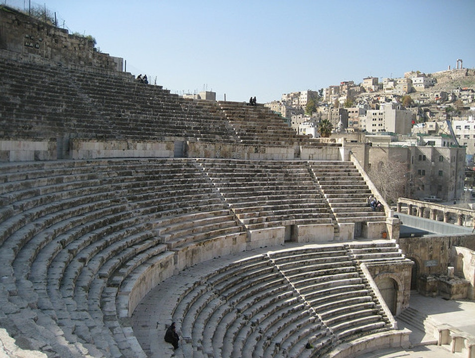 Sit and Imagine Roman Life in the Theater  Amman  Jordan