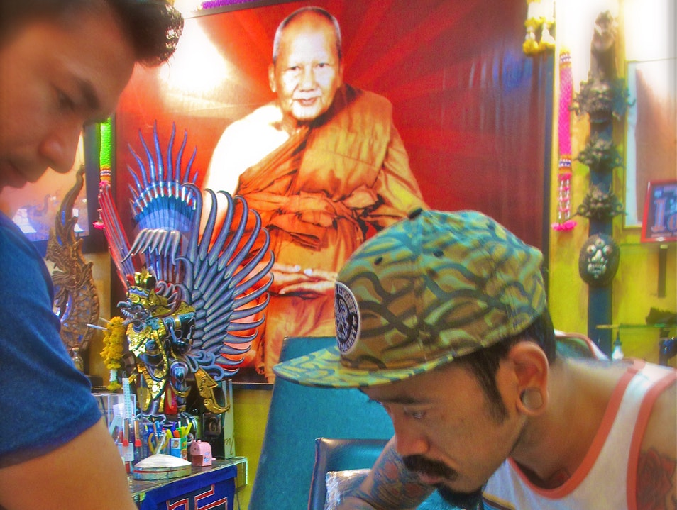 "Getting ""inked"" in Northern Thailand Mueang Chiang Mai  Thailand"