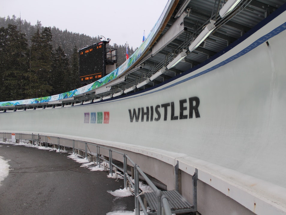 Whistler Sliding Centre: The Olympic Slide Whistler  Canada