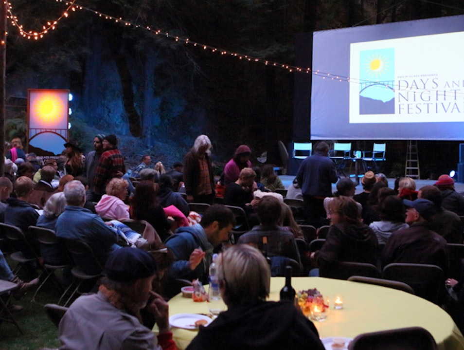 Music, Art & Film under the Redwoods Big Sur California United States